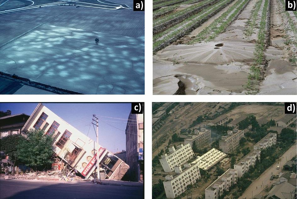 Esempi di liquefazione sismica (tratto da INGV)